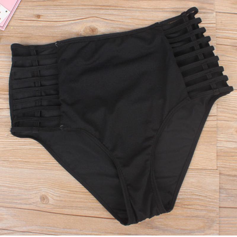 FLYMALL New Sexy Bikinis Women Swimwear Solid Fold High Waisted Bikinis Set Plus Size Swimwear Bathing Suit Biquini 3XL O20 17