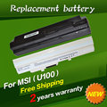 JIGU Laptop Battery BTY-S11 BTY-S12 For Msi X100 X100-G X100-L Akoya Mini E1210 Wind U100 U90 Wind12 U200 U210 U230 White 9cells