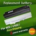 Jigu bateria do portátil bty-s11 bty-s12 para msi x100 x100-g x100-l akoya Mini E1210 Wind U100 U90 U200 U210 U230 Wind12 Branco 9 células