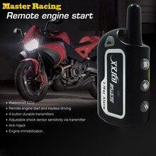 Мастер Racing двухстороннее сигнализации мотоцикла и скутера безопасности 2 Way система дистанционного управления с сигнализацией для Управление запуска двигателя вибрации Противоугонный замок Системы