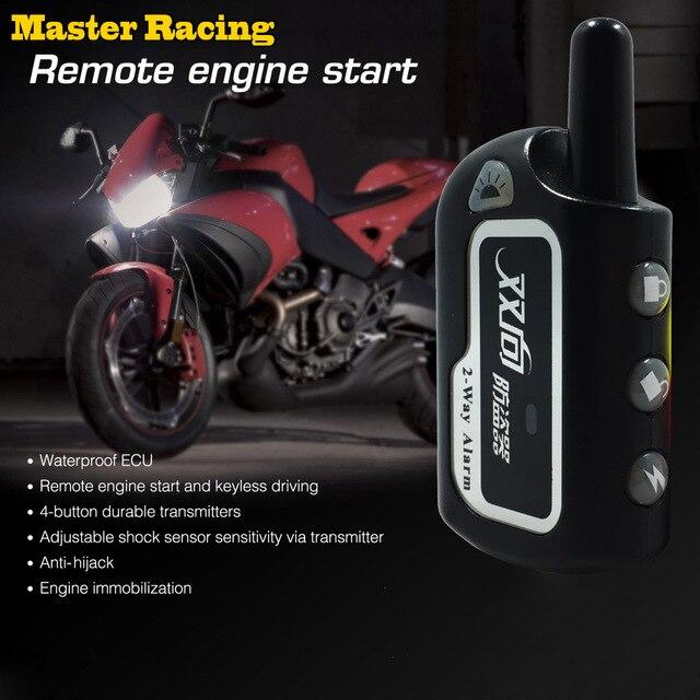 Master Balap Dua Arah Alarm Motor Scooter Keamanan 2 way Sistem Alarm Remote Control Mesin Mulai Getaran Alarm Kunci