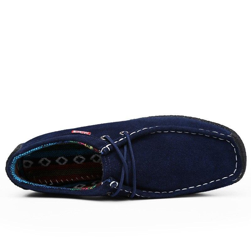 51 Pinsv Coffee Black Inverno De Sneakers Grande Coffee blue Homens fur Camurça Sapatos fur black Casual 39 Mocassins Hombre Zapatos Blue Couro Tamanho Pele fur Quente qEfTxaf