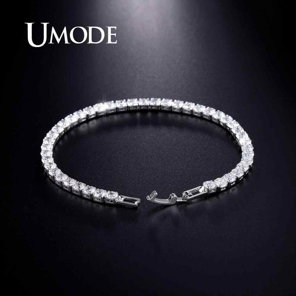 UMODE jasnego kryształu bransoletka tenisowa dla kobiet mężczyzn bransoletka cyrkonia biżuteria wesele Hip Pop akcesoria 2019 UB0097D