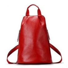 YISHIDUN high quality Shoulder bag hot women's Cowhide backpack vintage travel bag women Girl double-shoulder casual school bags