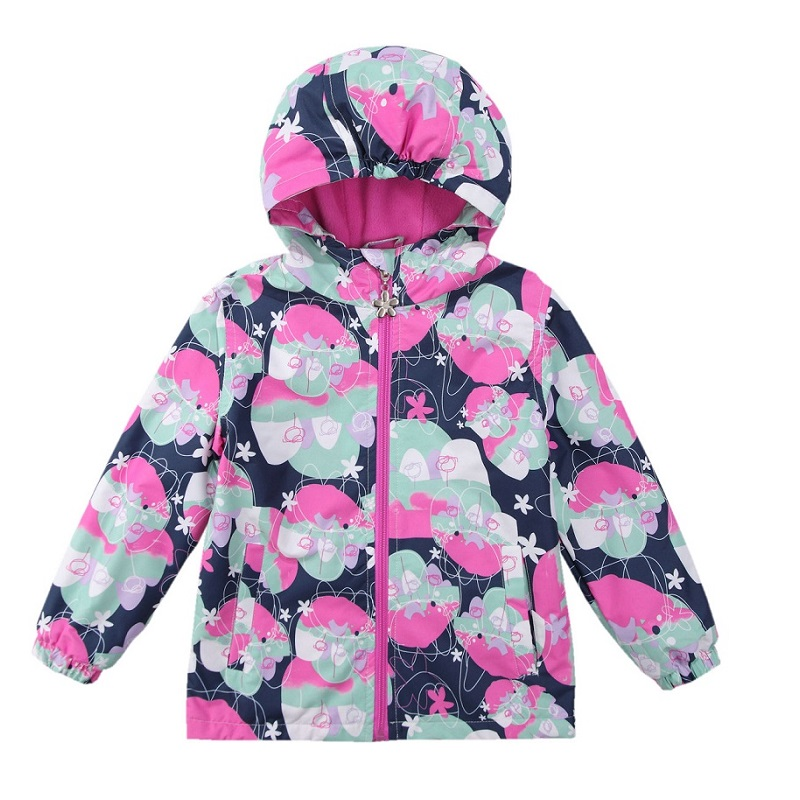 2017 Waterproof Windproof Girls Coat Hooded Children Jacket Outwear For Spring Autumn Winter 3-12 Years Windbreaker KF235