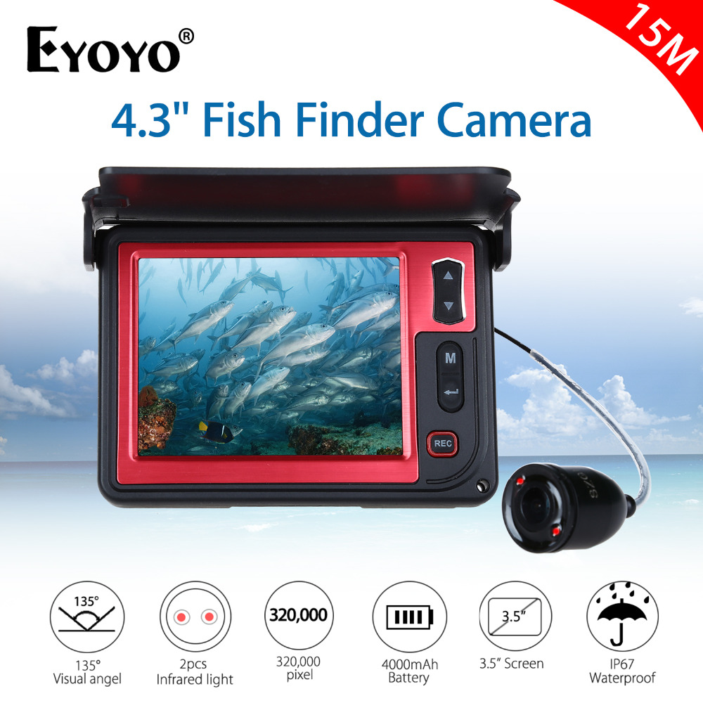 Eyoyo Brand New 3.5 Inch LCD Fishfinder 15M Infrared DVR Underwater Fishing Video Camera 8G TF Card 6 Hours Video Recording