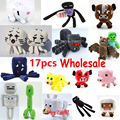 17pcs/lot Minecraft Wholesale Game Plush Toys High Quality Plush Toys Game Cartoon Toys Minecraft Cartoon Game Toys