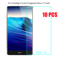 10PCS 5 5 Inch Umidigi Crystal Tempered Glass 100 High Quality Premium 9H 2 5D Screen