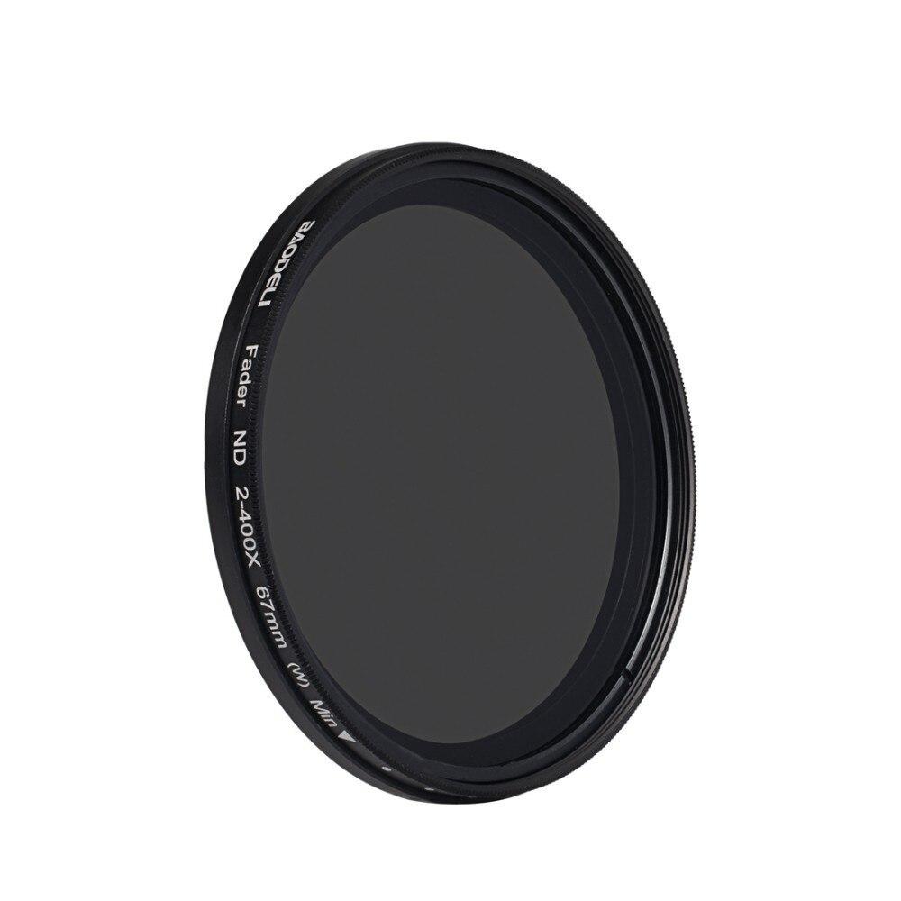 72 BAODELI Neutral Density Filtro Nd Filter Variable Nd2-400 Concept 49 52 55 58 62 67 72 77 82 Mm For Camera Canon Dslr Nikon Sony (3)
