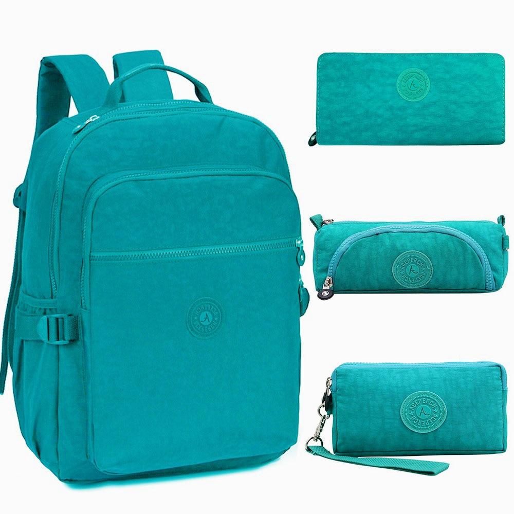 ACEPERCH Fashion Original School Backpack for Teenage Girl Boy Backpack Schoolbag Waterproof Women Laptop Nylon Travel
