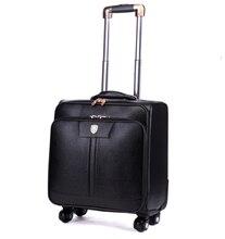 Universalräder trolley-reisetasche code fall 16 20 24 gepäck leder taschen, hohe qualität pu-leder reise Gepäck taschen