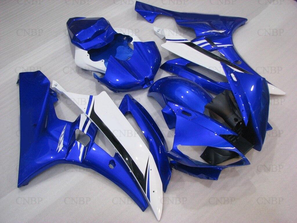 Обтекатели YZFR6 2006 ABS Обтекателя YZF600 R6 в 2006 2006 - 2007 синий белый Обтекателя и YZF R6 в 2007