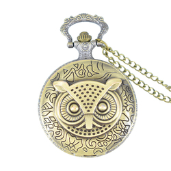 Cindiry retro bronze dial 4 7 cm steampunk stylish owl pocket watches pendant necklace fob watch.jpg 250x250