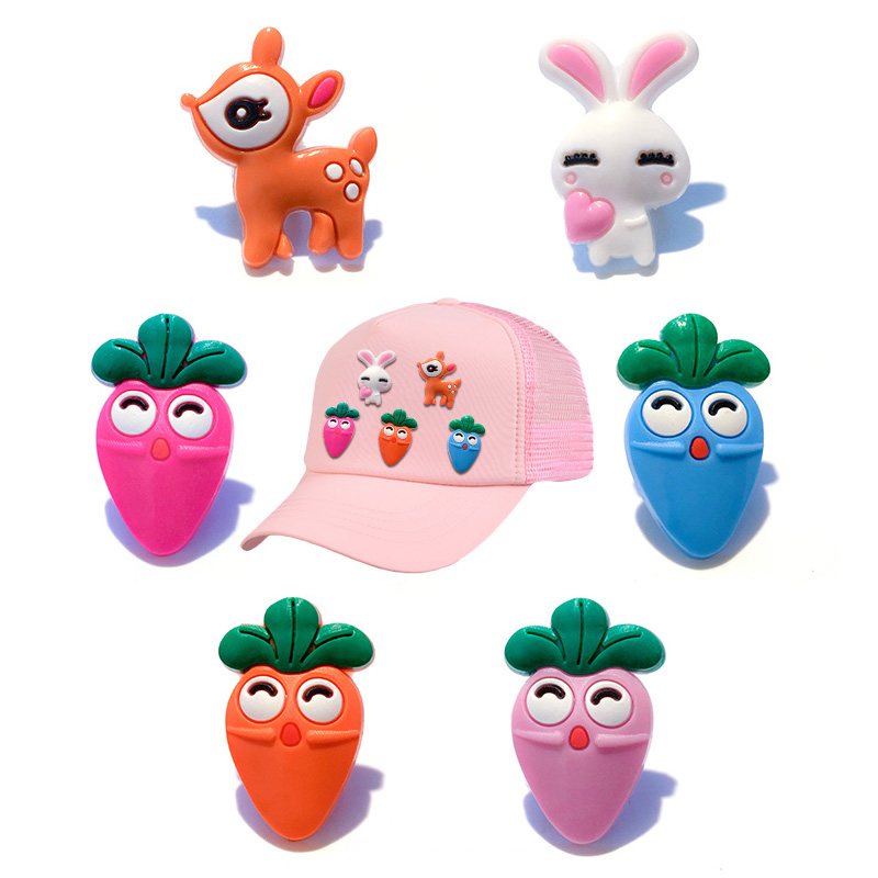 Hearty 1pcs Lovely Rabbit Colorful Carrot Pin Badges Brooch Badges For Backpack Clothes Icons On Backpack Pin Brooch Badge Decoration Badge Holder & Accessories Labels, Indexes & Stamps