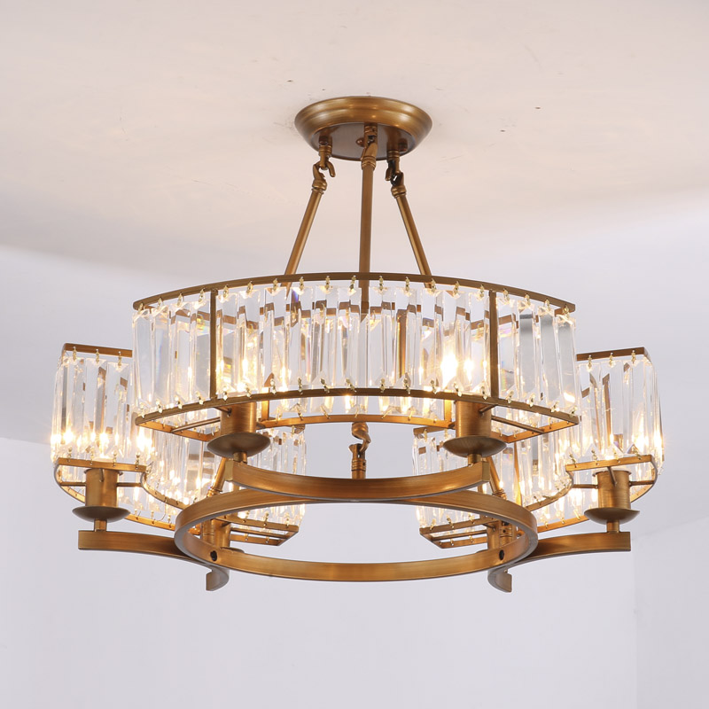 Loft Modern Crystal Chandelier Light For Dining Room Led K9 Crystal Chandeliers lamp Crystal E14 Pendant Lamp Lighting WPL193 crystal home lighting indoor lamp room chandeliers modern crystal light chandelier luxury cognac color top k9 crystal 6 8 arm