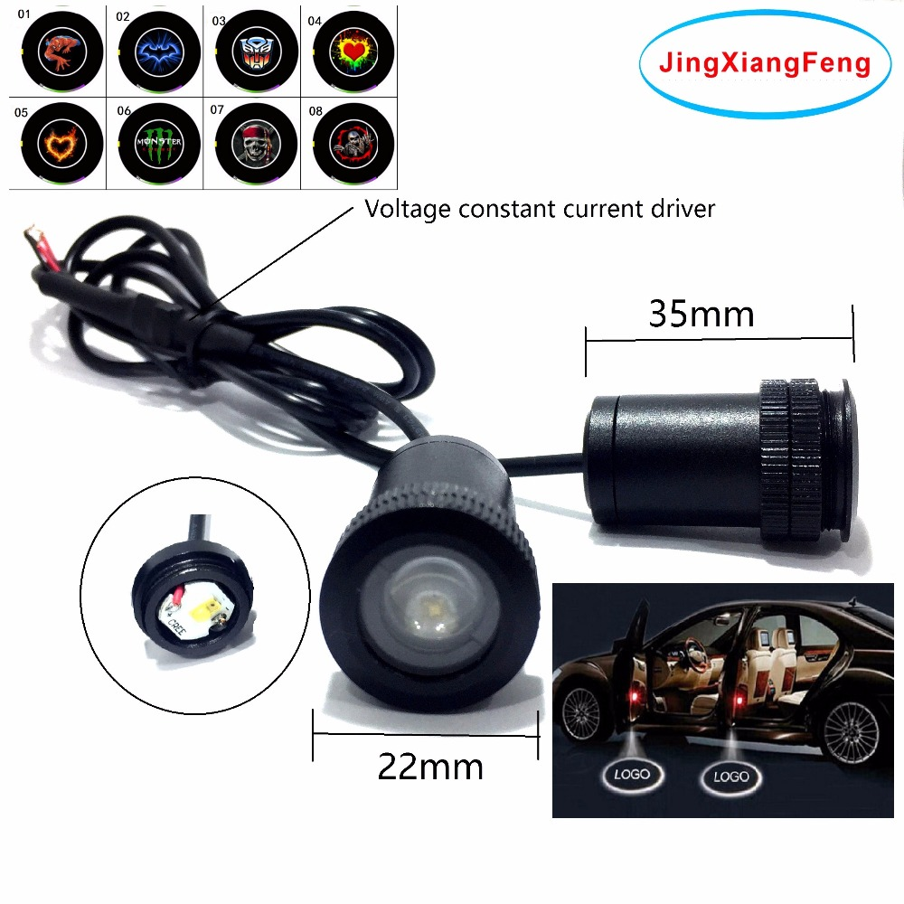JingXiangFeng 12V LED Car Door Logo Light Car Welcome Lamp Auto Laser Projector Light Case For Mazda Case For Opel Case For Bmw factory price 2 pcs auto laser lamp car door welcome lights led car logo projector light original car logo for changan cs35 logo