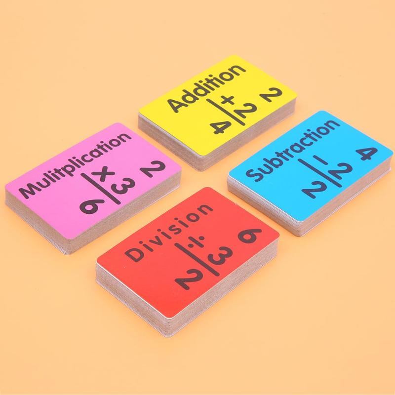 36pcs Baby Mathematics Card English Learning Subtract Divide Game Kids Early Education Math Toy