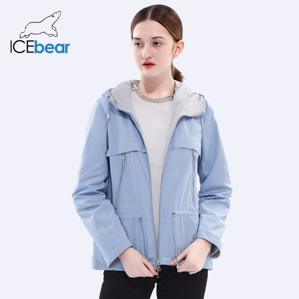 ICEbear 2018 new spring women trench coat woman high-quality overcoat casual windbreaker brand women's autumn overcoat GWF18022D
