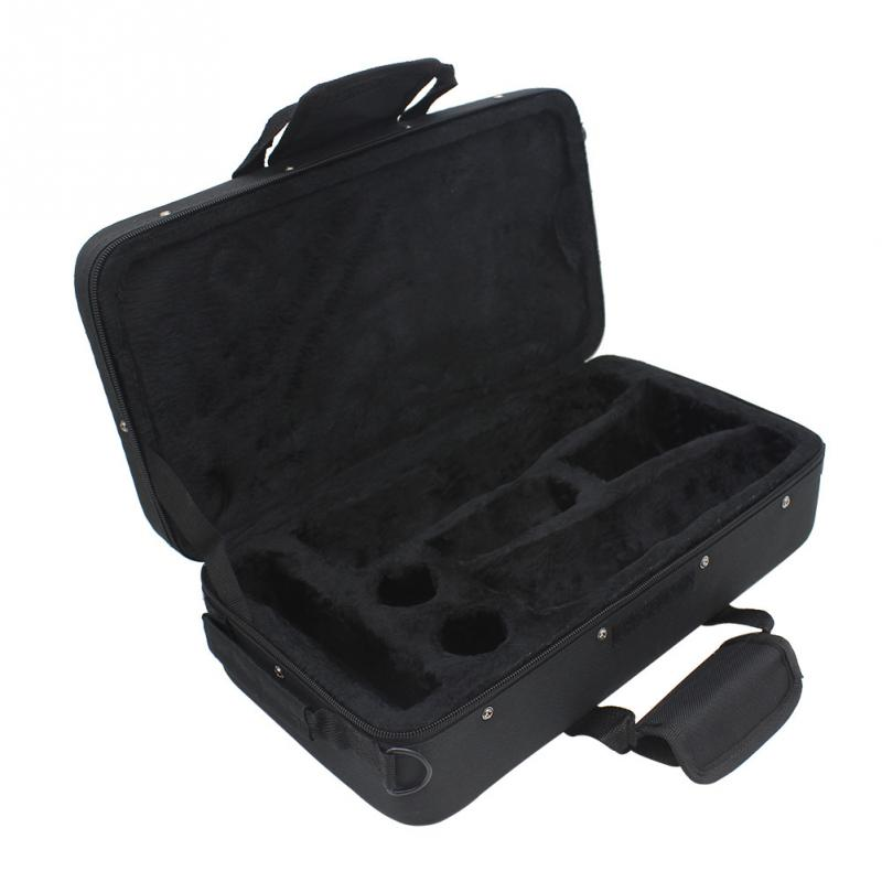 Black Foam Padded Thicken Oxford Cloth Sotrage Bag Clarinet Box Case With Handle Strap Clarinet Protection Accessories