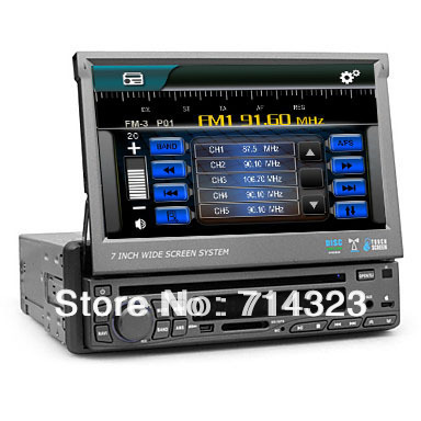 single 1 din 7 touch screen car stereo in dash dvd player gps navigation radio audio head deck. Black Bedroom Furniture Sets. Home Design Ideas