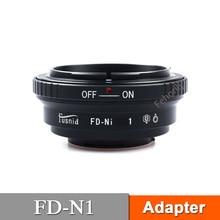 FD-N1 Adapter for FD Lens to  N1 V1 J1 J2 J3 J4 Mirrorless Camera fujian 35mm f1 7 cctv movie lens 50mm f1 4 cctv tv lens c mount for nikon 1 aw1 s1 s2 j5 j4 j3 j2 j1 v3 v2 v1 mirrorless camera