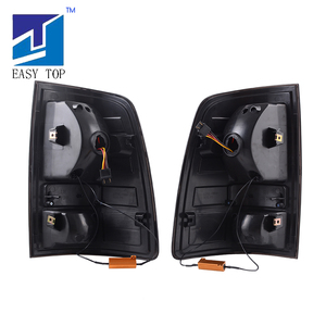 Image 5 - For 2009 2018 Dodge Ram 1500 2500 3500 LED Tube Tail Lights Black Smoke Brake Lamps