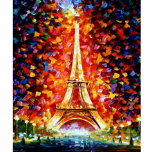 3D Painting Diamond Drill Square Full House Decor Scroll Embroidery Kits Tower watercolor