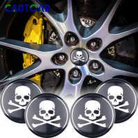 Mastermind-4 Uds. De insignia de esqueleto 3D de 56mm para volante de coche, tapacubos de centro de rueda, pegatina japonesa, insignia de decoración, accesorios