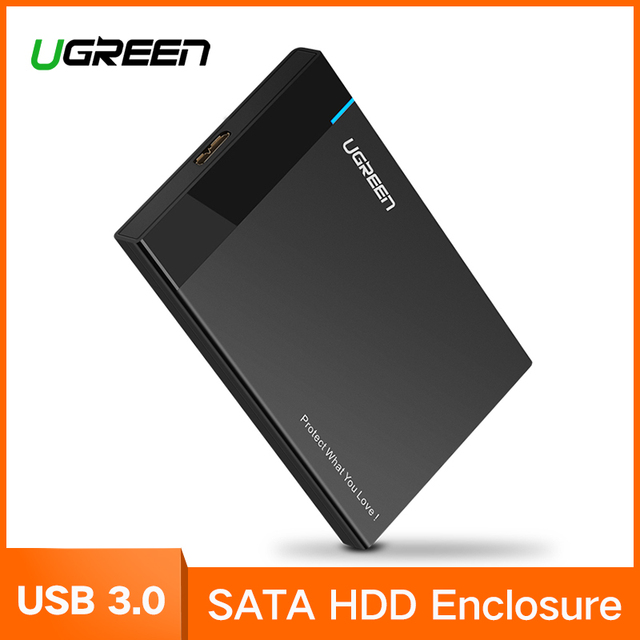 Ugreen HDD случае 2,5 дюймов SATA к USB 3,0 SSD адаптер для samsung Seagate SSD 1 ТБ 2 ТБ жесткий диск Box внешний HDD корпус