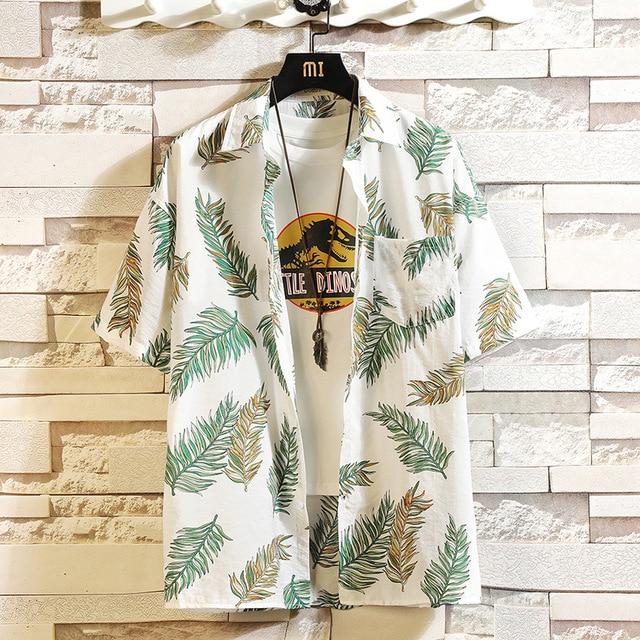 Print Brand Summer Hot Sell Men's Beach Shirt Fashion  3