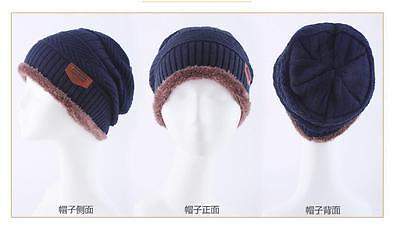 Men Women Warm Oversize Beanie Bagge Wool Cap Winter Slouchy Knit Ski Hat Unisex