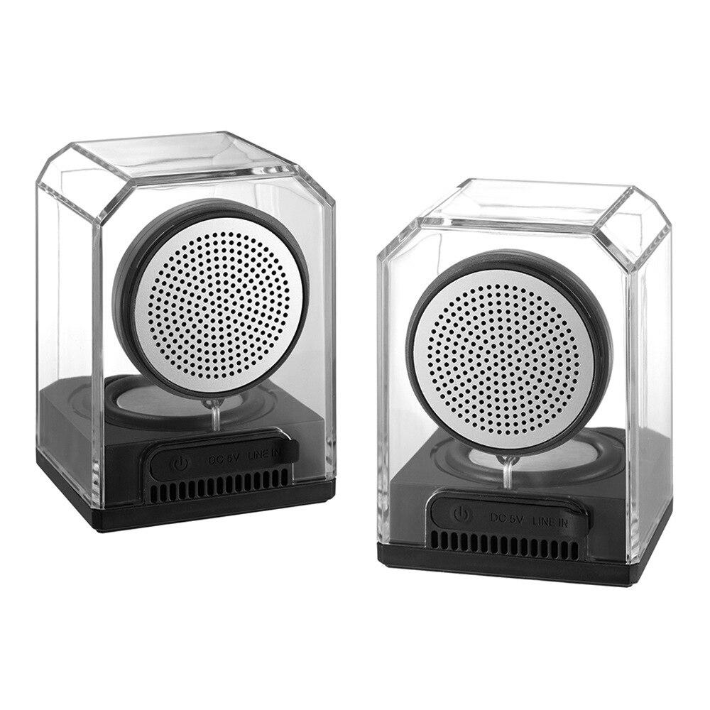 New Style BTS 628 Outdoor Waterproof Portable Acrylic Transparent Crystal Wireless TWS Internet Bluetooth Speaker