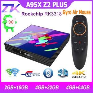 Image 2 - תיבת הטלוויזיה Google Play טלוויזיה תיבת אנדרואיד 9.0 Rockchip RK3318 4GB 64GB חכם טלוויזיה תיבת Bluethooth 2.4/5.0G WiFi אנדרואיד טלוויזיה תיבת PK H96MAX