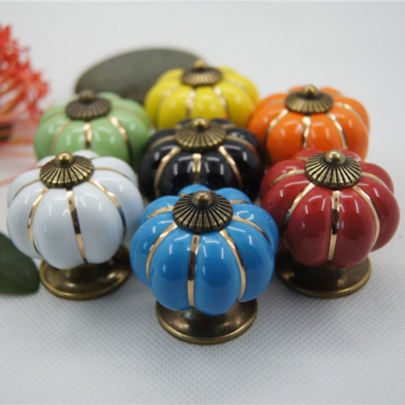 Vintage Ceramic Door Knobs Cabinet Drawer Wardrobe Cupboard Kitchen Pull Handle Furniture Handle Knob vintage metal refine 40mm furniture knob cabinet knob drawer pull cabinet furniture drawer wardrobe door handle mol 35