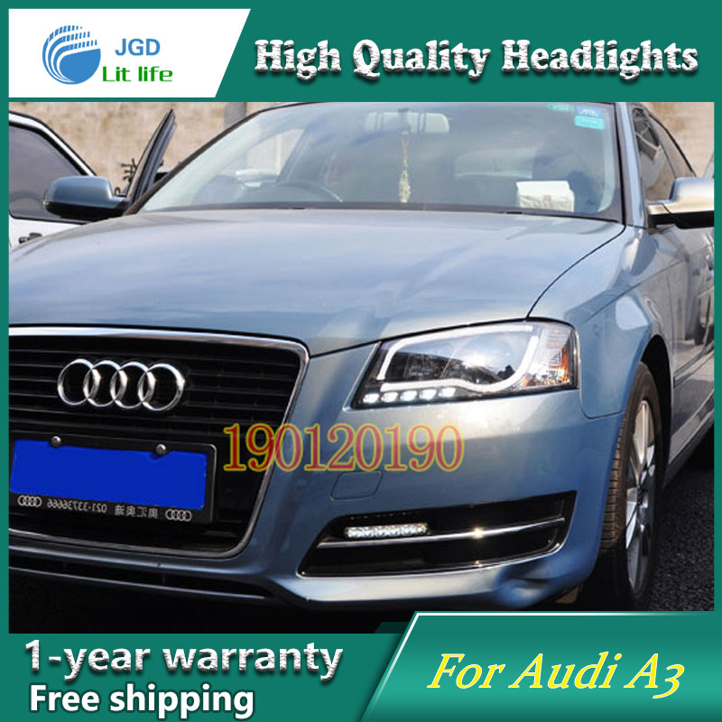JGD Brand New Styling for Audi A3 LED Headlight 2008-2012 Headlight Bi-Xenon Head Lamp LED DRL Car Lights jgd brand new styling for audi a3 led headlight 2008 2012 headlight bi xenon head lamp led drl car lights