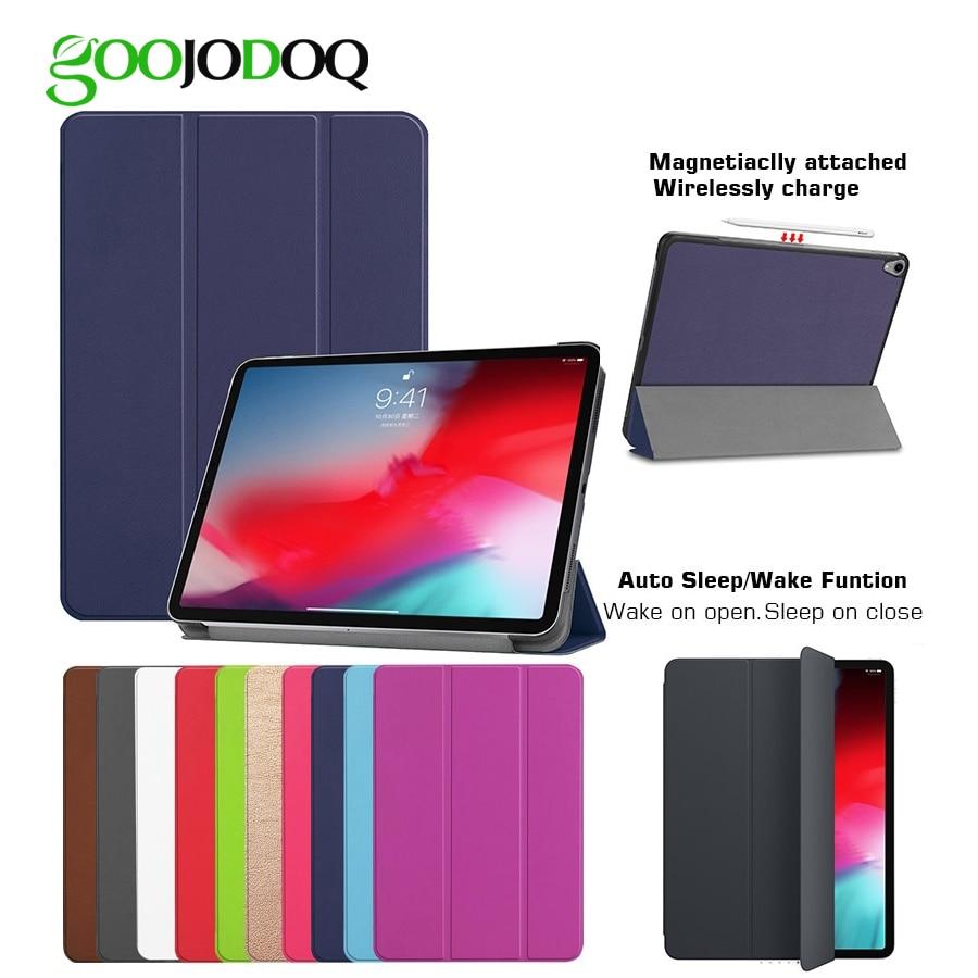Para iPad Pro 12,9 caso de 2018 inalámbrico de carga para Apple lápiz Auto dormir/despertar funda inteligente para iPad Pro 2018 Funda