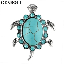 GENBOLI Unique Design Turtle Tortoise Shape Rings For Women Rhinestones Rings Jewelry Accessories