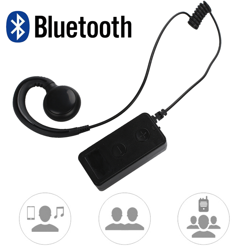 Bluetooth Walkie Talkie Intercom Headset Wireless Bluetooth Headset Durable 20HZ-20KHZ Walkie-Talkie Adapter For Baofeng handheld microphone for motorola walkie talkie red