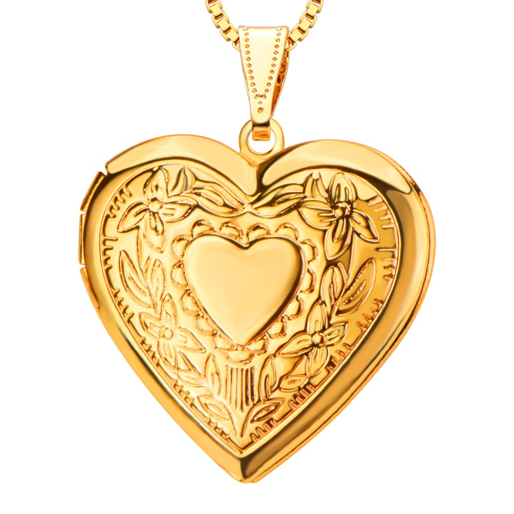 necklace original heart vintage locket lockets gold solid