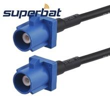 "Superbat Fakra Штекер ""C"" прямой штекер Fakra ""C"" прямой косичка кабель RG174 15 см"
