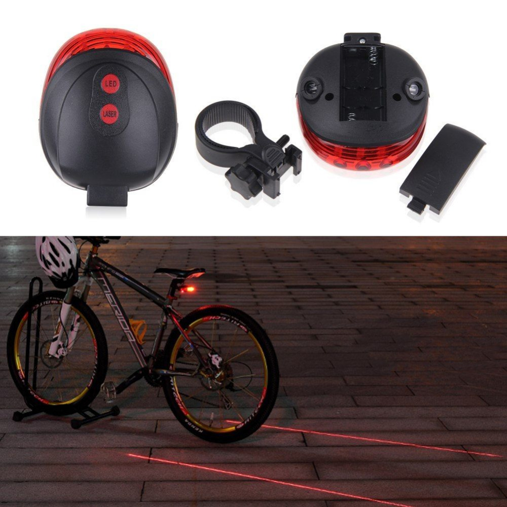 cd61e824e 5 LED Lampara Luz Trasera de Rayo 2 Laser LED Para Bicicleta Linterna  Ciclismo For Cycling Laser Tail Light with Mount-in Bicycle Light from  Sports ...