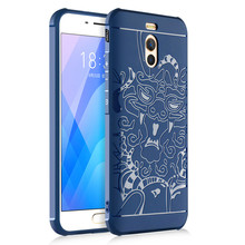 SuliCase Silicone TPU Coque For Meizu M6 Note Case 3D Carved Anti-knock Protective Phone Case For meizu m6 note Matte Back Cover все цены
