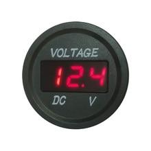 цена на LED Voltmeter Signal Lights Digital Display Input DC 12v-24v waterproof Motorcycle Voltmeter Gauge Voltage Meter