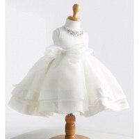 Dress dress לתינוקות הילדה טבילת ילדה תינוק באיכות גבוהה 1 dress עבור תינוק ילדה יום הולדת לשנה chirstening dress עבור תינוקות