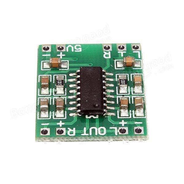 Free Shipping 100pcs/lot Mini Digital Power Amplifier Board 2*3W Class D Audio Module USB DC 5V PAM8403