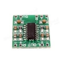 O envio gratuito de 100 pçs/lote Mini Digital Power Amplifier Board 2*3 W Classe D Módulo de Áudio USB DC 5 V PAM8403