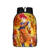 Dragon Ball Anime Mochila Para Adolescentes Mochilas Los Niños Super Saiyan Vegeta Goku Niños Morral de La Escuela Bolsa de Libros de Regalo