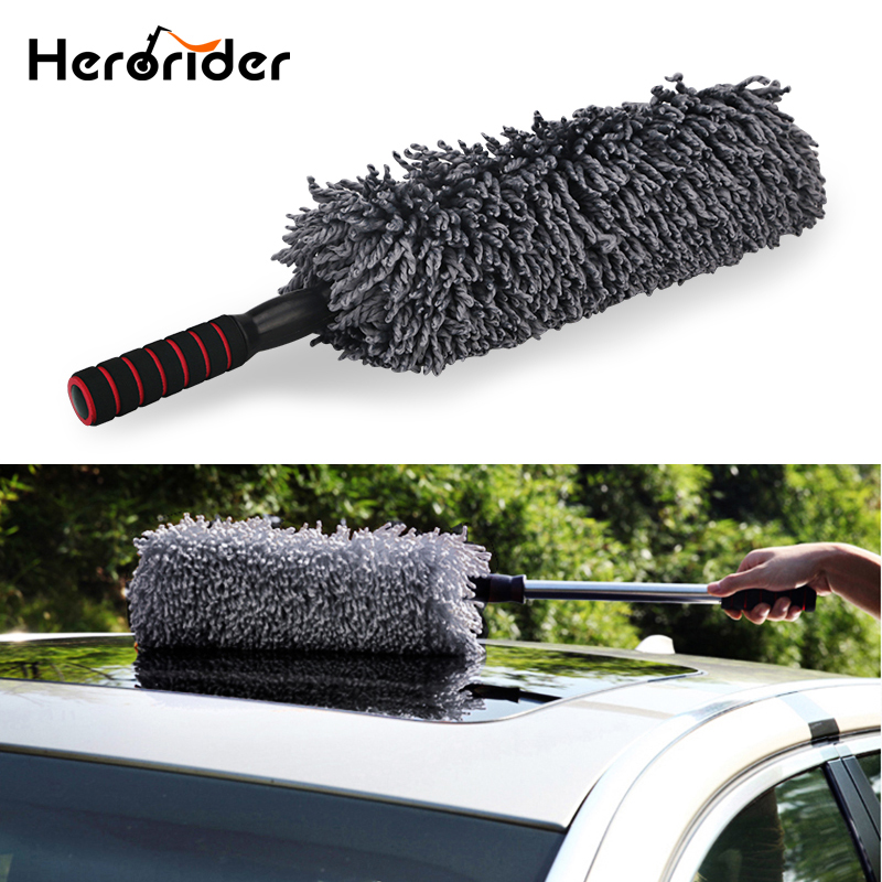 Auto Microfiber Car Duster Brush Cleaning Dirt Dust Clean Brush Universal Car Care Tools Polishing Detailing Towels Cloths