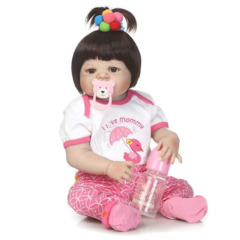 NPK odrodzona lalka z miękkim delikatny dotyk pełne ciała silicoen lalki silikonowe winylu bebe nowe prawdziwe reborn dla dzieci w Lalki od Zabawki i hobby na  Grupa 2