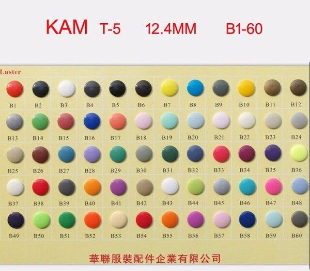 شحن مجاني 6000 مجموعات الأصلي T5 حجم 20 كام حفاضات البلاستيك الراتنج يستقر fasterner أزرار للقماش (1000 مجموعات لكل لون)